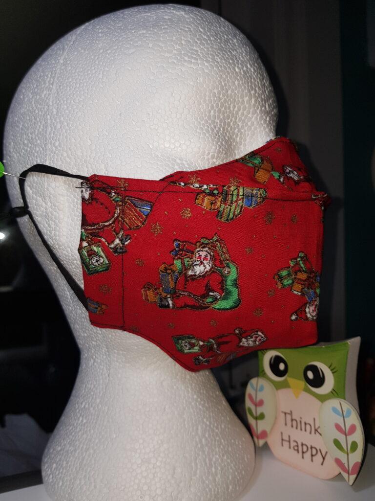 Red Christmas Santa Antifog Facemask