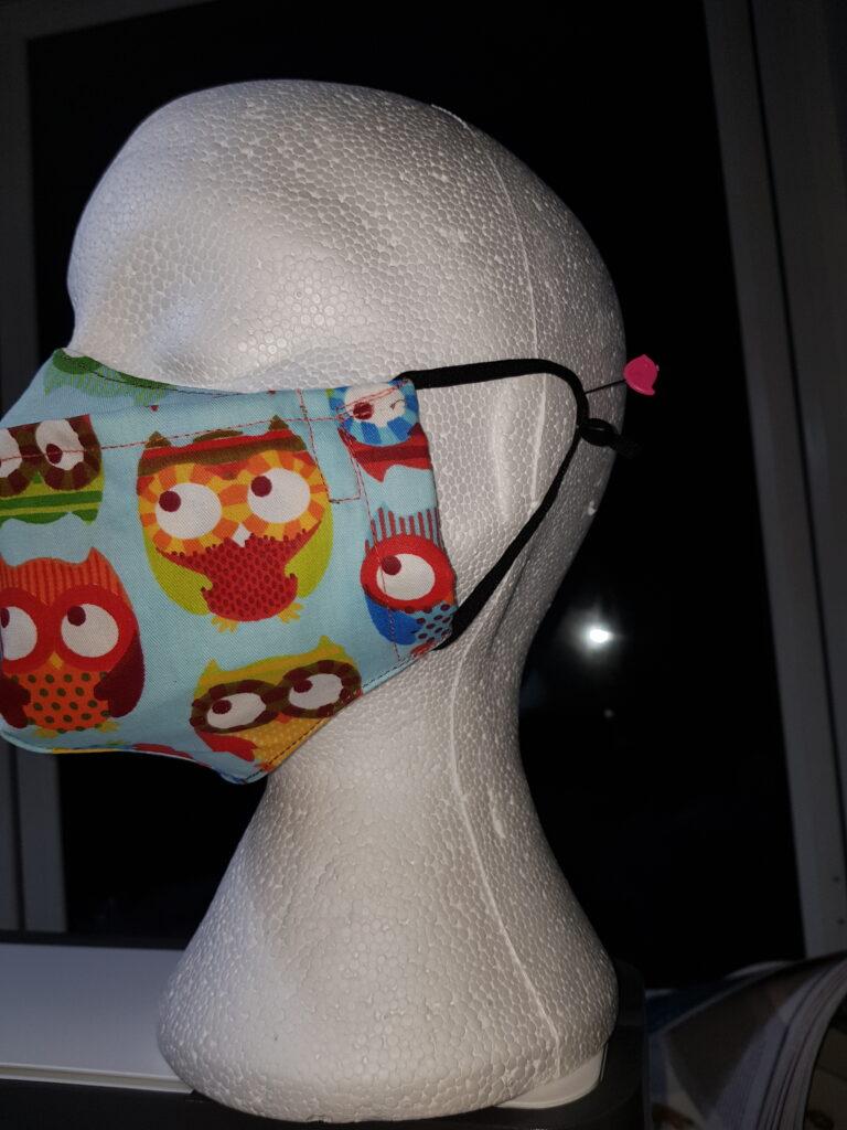 Light blue Owls design antifog Face mask